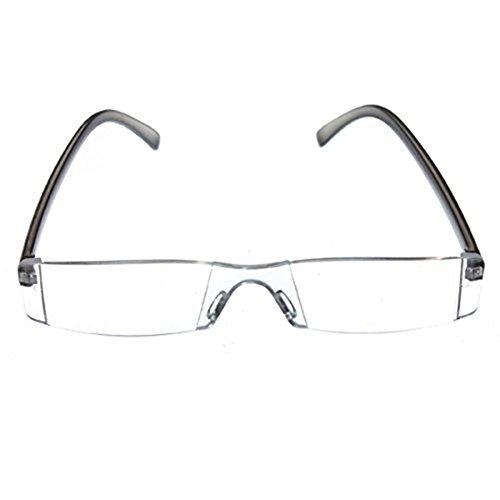 SODIAL(R) Trendige Lesebrille Nerd Brille Lesehilfe Sehhilfe Modern Design Randlos +1.5