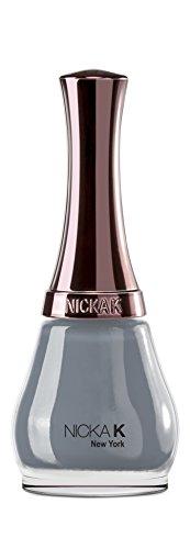 Nicka K New York Nail Color – Davy Gray, pack de 1 (1 x 1 pièce)
