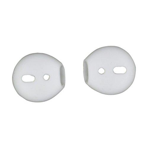 IPOTCH 2 pcs de Eartips para Auriculares de Silicona reemplazo para Apple Airpods iPhone 7 Accesorios de Audio y Vídeo Portátil - Blanco