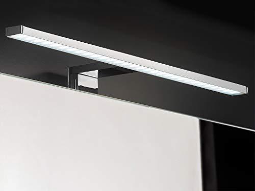 DOMTECH Specchio da Bagno con mensola Illuminazione a LED Colore: Bianco