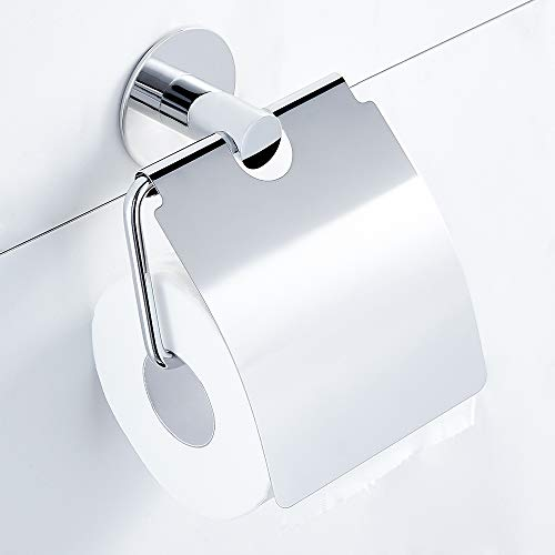 Hoomtaook Toilettenpapierhalter ohne Bohren, Patentierter Kleber + Selbstklebender- Kleber, Edelstahl, Poliertes Finish