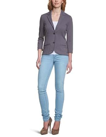 TOM TAILOR Denim Damen Blazer 39001686271/jersey blazer, Gr. 34 (XS), Grau (2609 dark steel grey)