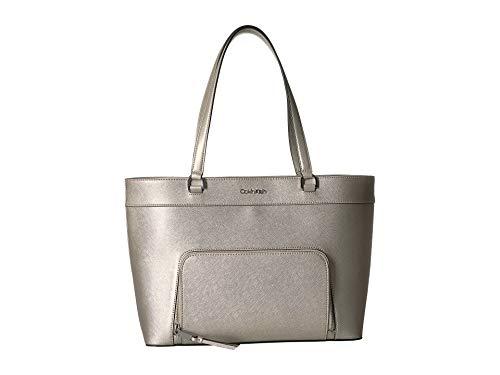 Signature Damen Leder Tasche (Calvin Klein Louise Monogram Signature Key Item Tote)