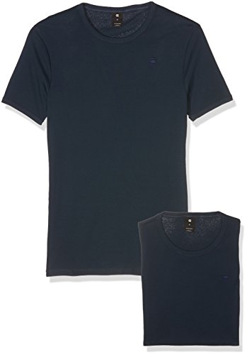 G-STAR RAW Herren T-Shirt Base R T S/s 2-Pack Blau (Legion Blue 862)