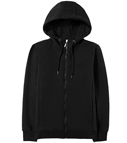 LAPASA Damen Kapuzen Hoodie Baumwolle Uni Full Zip mit Tasche MEHRWEG L014