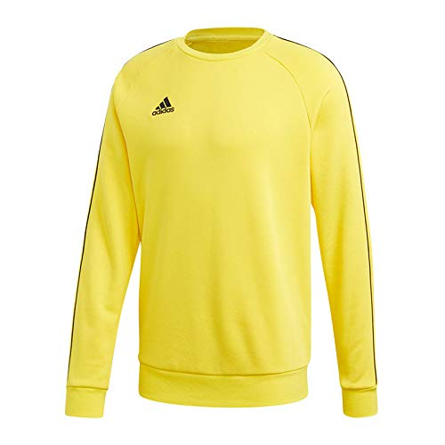 adidas Herren Core 18 Sweat Top Sweatshirt, Yellow/Black, L