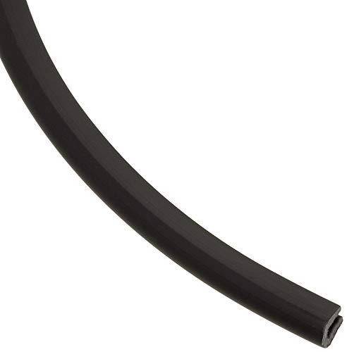 EUTRAS Kantenschutz KSO4004 Keder Schutzleiste - für Kanten 0,4 - 1,0 mm - schwarz - 20 m