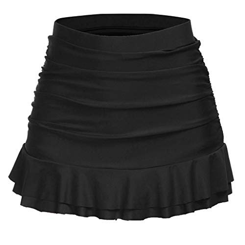 Femme Jupette Bikini Bottom,Volants Bas Maillots de Bain Shorts Taille Haute Froncée Bringbring