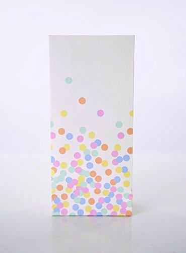 ertüten mit Konfetti-Punkten (Serviette-wrapper)