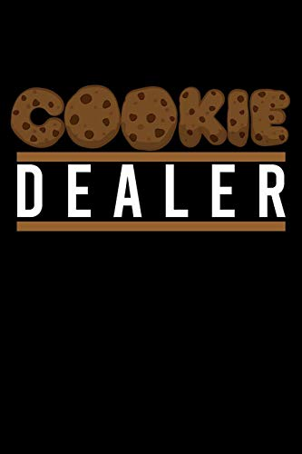 Journal: Cookie Dealer Bake Shop Owner Bakery Bakes Cookies Black Lined Notebook Writing Diary - 120 Pages 6 x 9