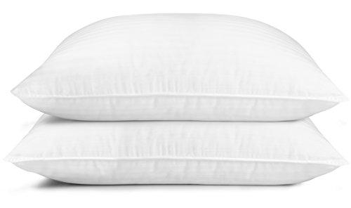 Utopia bedding cuscini da letto imbottiti in fibra premium (2 pezzi, bianco) cuscini di dimensioni standard per dormire, fibra siliconata cava 3d (bianca, 48 x 74 cm)