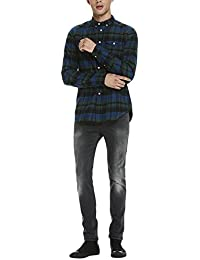 Scotch & Soda Herren Langarmshirt Lightweight Brushed Flannel Shirt With Workwear Elements
