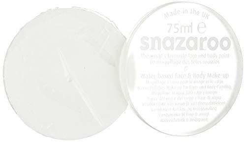 Snazaroo 1175000 Kinderschminke, hautfreundliche hypoallergene Gesichtschminke auf Wasserbasis, wasservermalbar, parabenfrei, weiß, 75 ml Topf