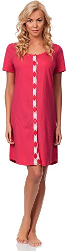 Italian Fashion IF Damen Stillnachthemd Iga 0114 Himbeere
