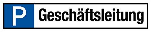 Parkplatzschild - Geschäftsleitung - Aluminium - 11 x 52 cm