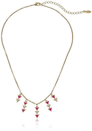 kensie-epoxy-triangle-pink-fringe-necklace-18-3-extender