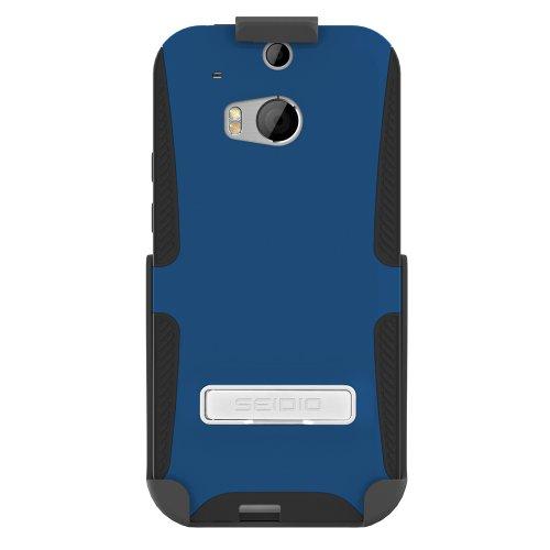 Seidio BD2-HK3HTM8K-RB Dilex Hülle mit metallischen Kickstand und Holster Combo für HTC One (M8) königsblau - Seidio Holster-design