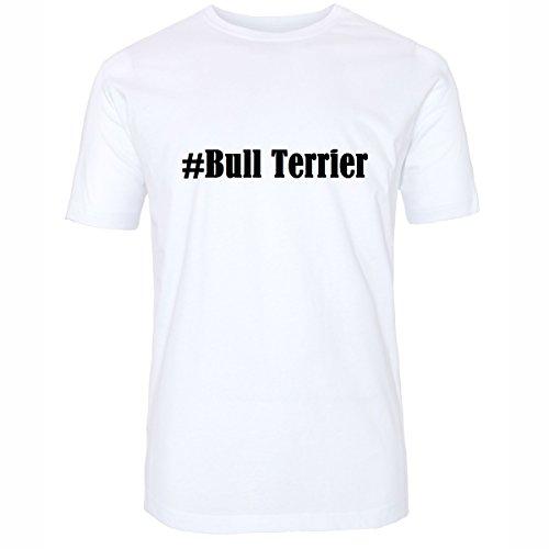 T-Shirt #Bull Terrier Hashtag Raute für Damen Herren und Kinder ... in den Farben Schwarz und Weiss Weiß