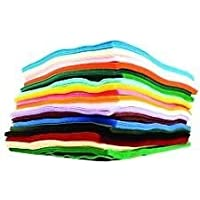 Family Pack of Crafkit? Acrylic Felt - 30 A4 Sheets in 15 Assorted Colours - Feltro Bianco