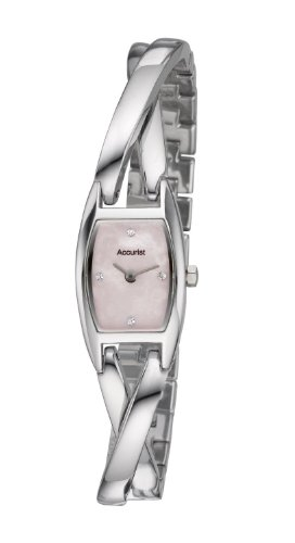 Accurist Ladies / Women's Dress Watch Crystal Set Pink Mother of Pearl Dial