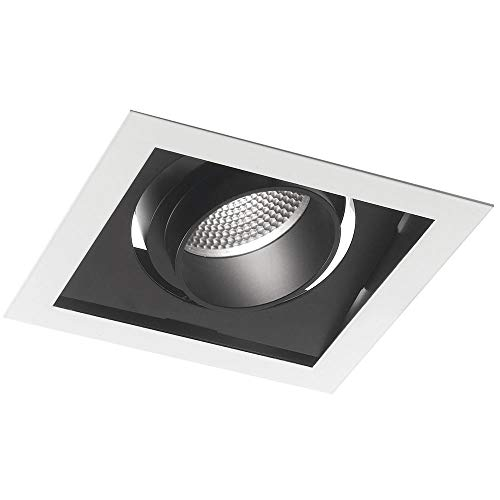Integrado Negro Blanco Cuadrado giratorio yeso Foco LED 45W luz cálida Intec...