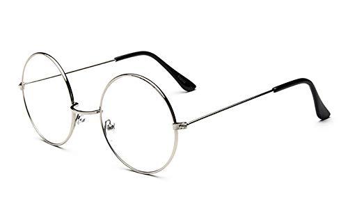 HUWAIYUNDONG Sonnenbrille Runde Glas Gestell Schwarz Gestell Klare Linse Kreis Spektakel Brille Frauen Männer Optische Brillen Weiblichen Nerd