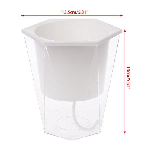 Kofun Pot de Fleurs à Irrigation Automatique, Pot de Fleurs pour arrosage Automatique Blanc 3#