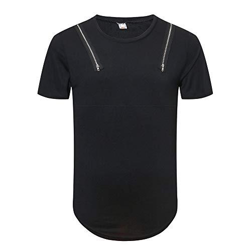 Shirts Nueva Tendencia Camisetas para Hombre Personal Remera de Manga Corta  Blusa de Color Puro Tops 689ad583865c1