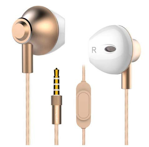 Fusiontech Auricolari Cuffie In-Ear Earphones Universale, Cuffie con Vivavoce Headset Earphones con Microfono, Compatibile on iPhone, iPad, iPod, Samsung Galaxy, Huawei, Mp3
