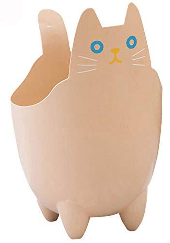 Mignon Dessin animé de chat ABS Table de salle de bain Poubelle Seau de stockage, Plastique, jaune, 19*30.5cm