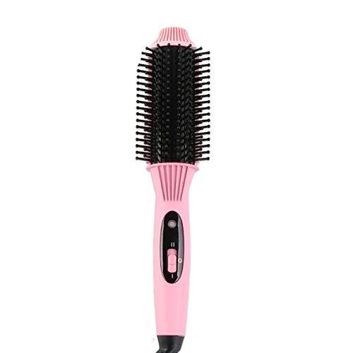 SXFYMWY Hot Air Pinsel Haartrockner Styling Kamm Negative Ionic Salon Haarglätter und Curler Hot Hair Combs Anti-Scald Haarbürsten,Pink -