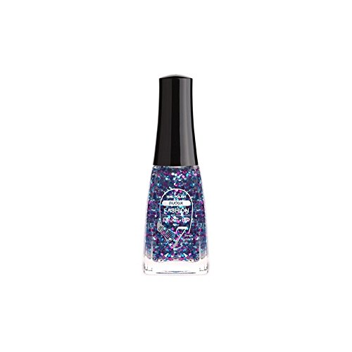 FASHION MAKE UP - Vernis à ongles Bijoux - Glitter Bleu - Fabrication Européenne