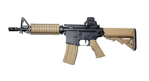 Pistola airsoft Colt M4A1 CQBR negro y marrón Cybergun. Potencia 1,2 Julios