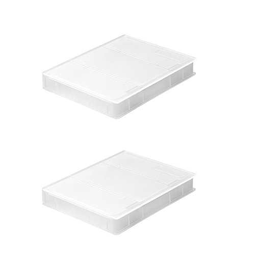 SIENOC 2x Plastik 2.5 Zoll Festplattenlaufwerk HDD Aufbewahrungsbehälter-Schutz-Fall