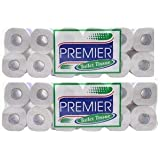 Premier Toilet Tissue Paper -190 Pulls (2 Ply Roll, 10 and 2 Pack)(pack of 2)