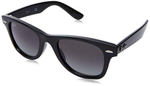 Ray-ban junior wayfarer junior occhiali da sole, nero (black/gradient), 47 unisex-bambini