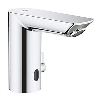 Grohe Bau Cosmopolitan E – Grifo de lavabo electrónico 1/2» Tamaño M, con Grifo y limitador ajustable de temperatura, color cromo (Ref.36451000)