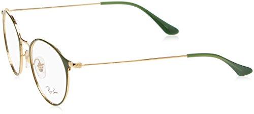 Ray-Ban Unisex-Erwachsene Brillengestell RX6378, Grün (Gold/Green), , 49