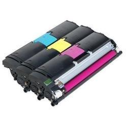 QMS Konica Minolta magicolor 2400 2430 2500 2450 2400W 2550 2500W colour laser printer toner value kit , Hi-Cap ( Cyan,Magenta,Yellow )