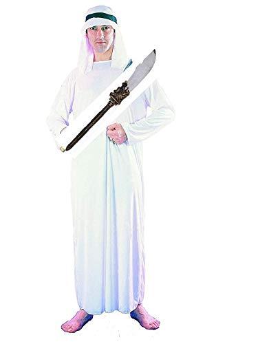 Dolce Idea Arabo Costume Adulto, Bianco, + sciabola Taglia Unica,Carnevale