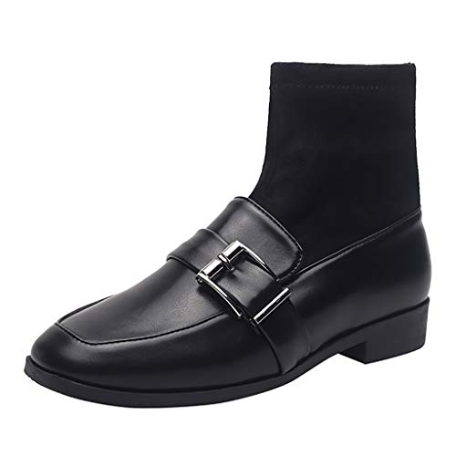 generisch Erwachsene Chelsea Boots Damen Stiefel Derby Wasserdicht Kurz Stiefeletten Schuhe Damen Worker Boots Damenmode Knöchel Baumwolle Verdickung Warme Freizeitschuhe Kurze Stiefel -