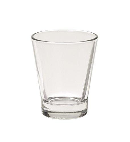 Excelsa Caffeino Bicchierino cl 9, Vetro, Trasparente, 6x6x7 cm