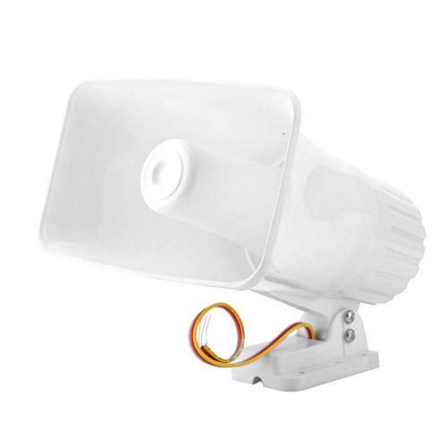 Sirena cuerno, 150dB Alarma electrónica sirena cuerno sistema de alarma de seguridad - interior/exterior