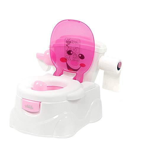 YICIX Töpfchensitz töpfchen für Kinder Babytopf Tragbare Multifunktions Wc Cartoon Töpfchen Kind Topf Ausbildung Mädchen Jungen Töpfchen Kinder Stuhl Wc Sitz,Pink