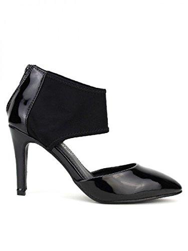Cendriyon, Escarpin Verni noir COCO PERLA Chaussures Femme Noir