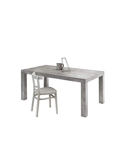 Icreo tavolo allungabile moderno, mod. bacco, finitura cemento, cm 160x90 h75 arriva montato !!!!,con 2 allunghe da cm 40 allungabile a cm 200/240 in truciolare melaminico di alta qualita'.
