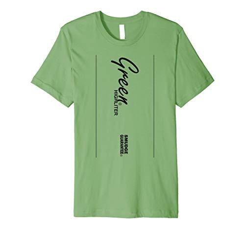 Grün Textmarker Stil Halloween-Kostüm T-Shirt