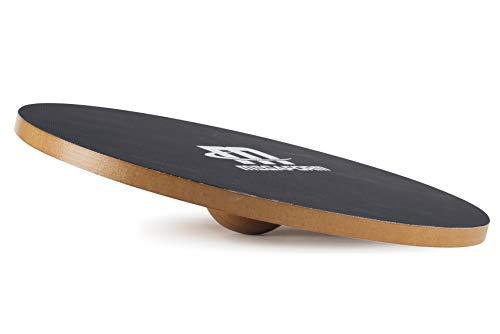 Megaform Balance-Board aus Holz mit rutschfester Oberfläche - Wobble Board Wood - Wackelbrett für Kinder & Erwachsene -Therapiekreisel für Physiotherapie - Balance-Pad mir 40 cm Durchmesser