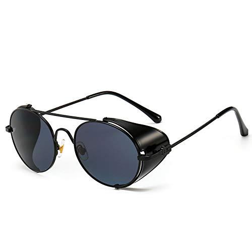 LAMAMAG Sonnenbrille Steampunk Style Sonnenbrillen Qualität Handmade Side Shield Sonnenbrille Oculos De Sol, S