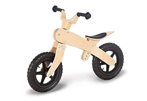 Pinolino Laufrad John, unplattbare Luftbereifung, aus Holz, Lenker und Sattel höhenverstellbar, empfohlen für Kinder von 3 - 5 Jahren